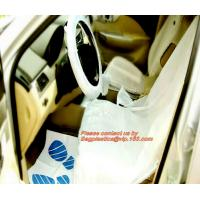 China Nylon seat cover Reusable seat cover car seats Steering wheel cover foil Disposable car carpet cover Disposable seat cov factory