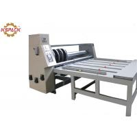 China Semi Automatic  Rotary Slotter  Machine Slot With Creasing Adjust Together factory