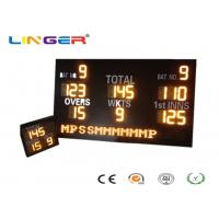 China AC220V / 110V Electronic Cricket Sports Scoreboard With Iron Frame Cabinet factory