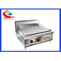 China stainless steel counter top plate electric griddle grill machine factory