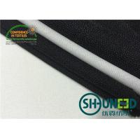 Black fusible interfacing Fabric Thermo Polyester Adhesive Bleach White