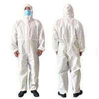 China Medical Disposable Protective Gown Coverall Suit SMS Non Woven Fabric Pull Head on sale