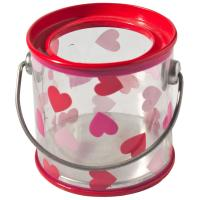 Plastic Tin Candy Containers PVC Tin Box With Transparent Body / Food Storage