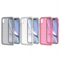 China multi color IphoneX Series Clear Phone Case Protective With Flash Dots factory