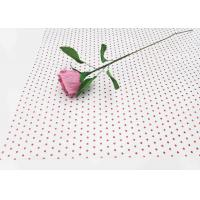 China 17gsm Waxed Wrapping Dotted Tissue Paper Foil Tissue Paper Sheets Metallic Red Dot Pattern factory
