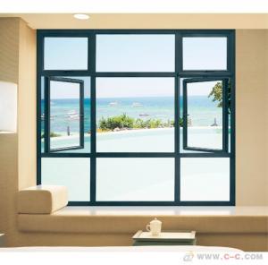China Horizontal Aluminum Casement Windows Noise Insulation Powder Coating Waterproof factory