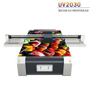 China Multi Color UV Flatbed Printing Machine , Digital Flatbed UV Printer factory