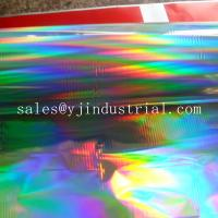 High quality seamless rainbow pattern  PET holographic lamiantion film & transfer film