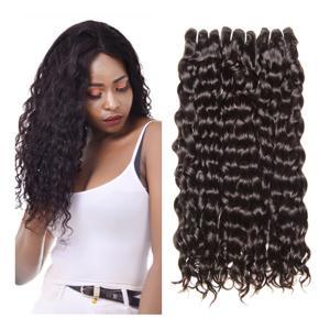 China Human Hair Brazilian Water Wave 100% Human Hair Weave Bundles Natural Hair Extensions 1B# factory