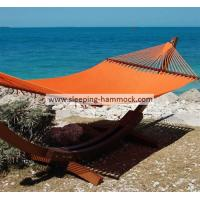 Buy cheap Modern  Solution Dyed 2 Person Caribbean Style Hammock With Stand Orange 55 X 84 Inches from Wholesalers