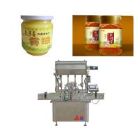 China Touch Screen Honey Filling Machine For Glass Bottle Sauce / Fruit Jam factory
