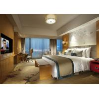 Buy cheap Fashion Double Bed Commercial Hotel Bedroom Furniture Shiny Finished from Wholesalers