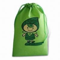 China Drawstring Backpack, Made of Nonwoven Material, Customized Logo is Welcome factory