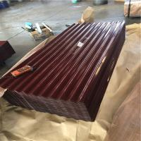 China HF-009 iron oxide red color corrugated roofing sheets with the thickness 0.15-1.2mm factory