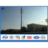Buy cheap Hot Dip Galvanized Steel Polygonal Electrical Power Suspension Pole from wholesalers