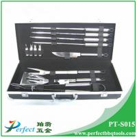 Buy cheap Stainless steel bbq grilling tool set 12 pcs stainless steel bbq utensil from Wholesalers