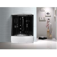 Quality Black  Profiles Enclosed Bath Shower Unit , Complete Shower Stall Kits for sale