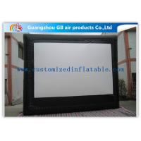 Buy cheap Custom Frame Style Inflatable Movie Screen / Theater Screen For Outside Garden Film from Wholesalers