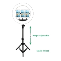 China 14inch selfie ring led light with tripod stand floor base foldable adjustable with smart phone holder factory