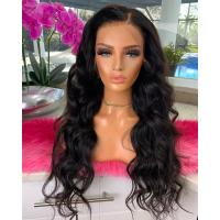 China Loose Wave 360 Lace Frontal Wig Peruvian Untreated Pre Plucked Cuticle Aligned on sale