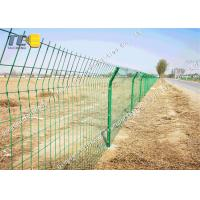 China Pvc Coated welded wire fence High Speed Protection Net Corrosion Resistance on sale
