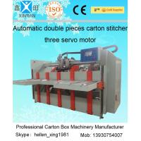 Buy cheap Two Pieces Carton Stapler Cardboard Box Packing Machine Stitching Stapling from Wholesalers