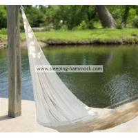 Buy cheap Soft  White Outdoor Double Person Handmade Mayan Hammocks Fade Resistant Comfortable from Wholesalers
