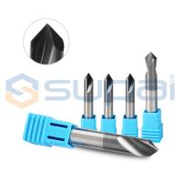 China Custom Made Chamfer End Mill For Metal Steel / Flat Countersink Drill Bit factory