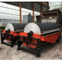 China 20t/h 35r/Min Wet Drum Magnetic Separator Machine For Mineral Processing factory