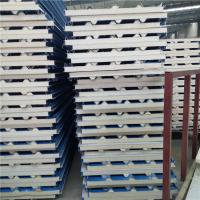 China insulated 0.376mm polyurethane foam sandwich roof panel used in cold storage factory