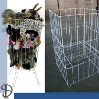 Metal Bin Display Rack for  Plush toys/ White TOY PET CARRIER / wire square bin