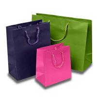 Matte Colored Jewelry Gift Bags Aqueous Coating Technics For Shopping