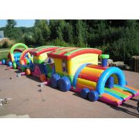 China Large Long Outdoor Obstacle Course For Kids Interactive Boot Camp factory