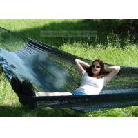 Buy cheap Backyard Patio Black Hand Woven Mayan Hammock , Non Spreader Bar Woven Rope from wholesalers