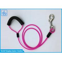 China Custom Tie Out Dog Collar Flexi Pink Leashes For Pet , Dog Runner Cable factory