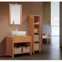 Quality 16mm oak / plywood Ceramic Bathroom Vanity 48 inch 2 doors without Drawer wholesale