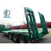 China Low Floors Transport Heavy Vehicles Low Bed Semi Trailer on sale