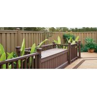 Buy cheap Anti - UV Sandalwood / Coffee WPC Fence Panels For Landscape And Building from Wholesalers