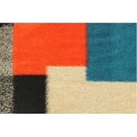 Buy cheap Orange Large Square knitted Wool Jacquard Fabric Women Apparel Material from wholesalers