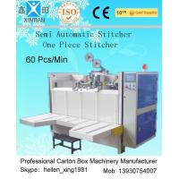 Buy cheap Semi-Automatic Stapler Carton Making Machine With Single / Double Stitching from wholesalers