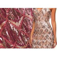 Buy cheap Clothing Sequin Embroidered Fabric / Handmade Glitter Material Fabric from wholesalers