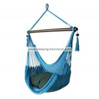 Buy cheap Comfortable Extra Large Outside Porch Caribbean Patio Hammock Chair For 2 Light Blue 47 Inches from Wholesalers