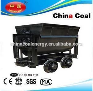 Buy cheap KFU Rocker Side Dump mining Car 600 gauge bucket tipping mine car from Wholesalers