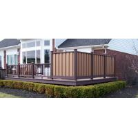 Buy cheap Zero Formaldehyde Cedar WPC Fence Panels With Wood Grain Finish High Impact Resistant from Wholesalers
