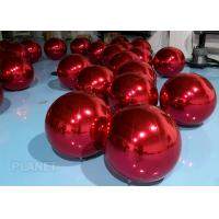 China Dazzle Color Inflatable Mirror Ball , 60cm Inflatable Disco Balloon For Wedding Decoration factory