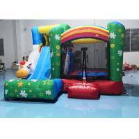 China 210D Oxford Inflatable Sports Games / Home Bounce House Slide Combo 3.55x3.3x2.5M factory