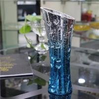 Shinning Decorative Glass Vases Blue Flower Hypotenuse sticker Available