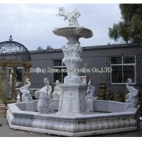 China Large white marble fountain factory