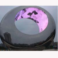 China Outdoor Large metal round stainless steel sculpture project,Stainless steel sculpture supplier factory