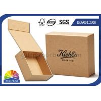 China Logo Printed Brown Kraft Paper Hinged Lid Gift Box With Magnetic Closure on sale